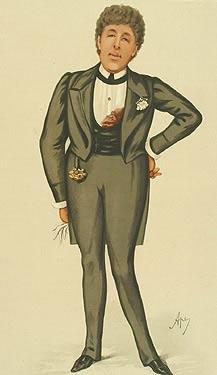 Oscar Wilde, Karikatur von Vanity Fair