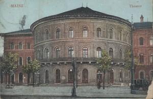 Theater in Mainz, erbaut von Georg Moller, Zustand im Jahre 1903